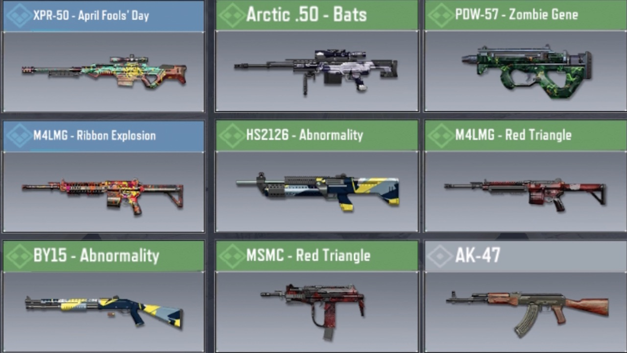 CODM Todas las armas
