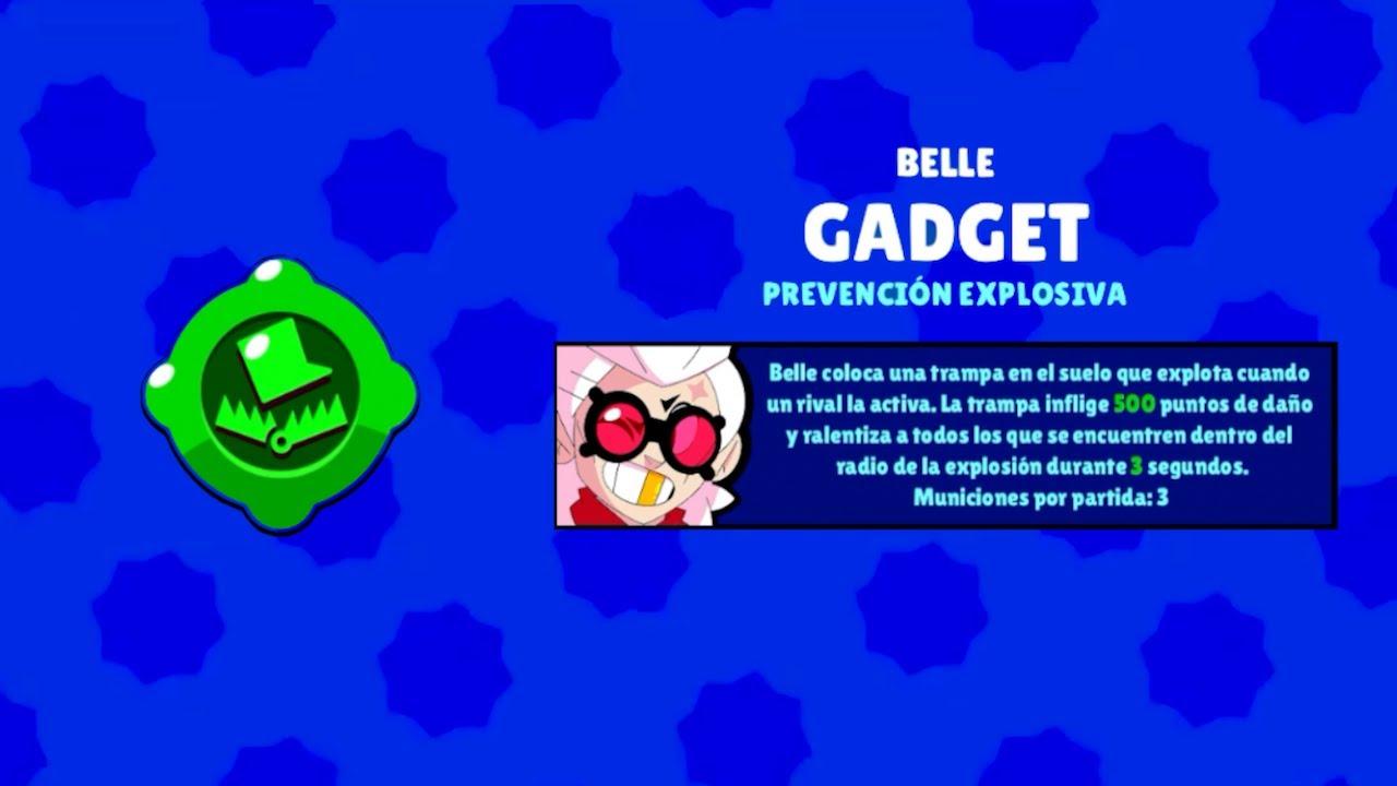 brawl stars belle gadget prevencion explosiva