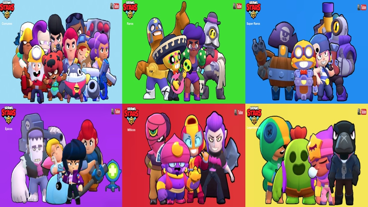 brawl stars brawlers por categoria