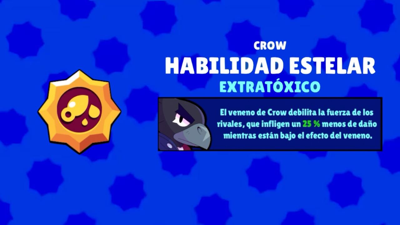 brawl stars crow habilidad estelar extratoxico