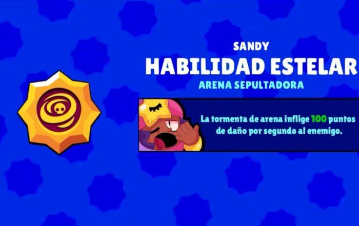 brawl stars sandy habilidad estelar arena sepultadora