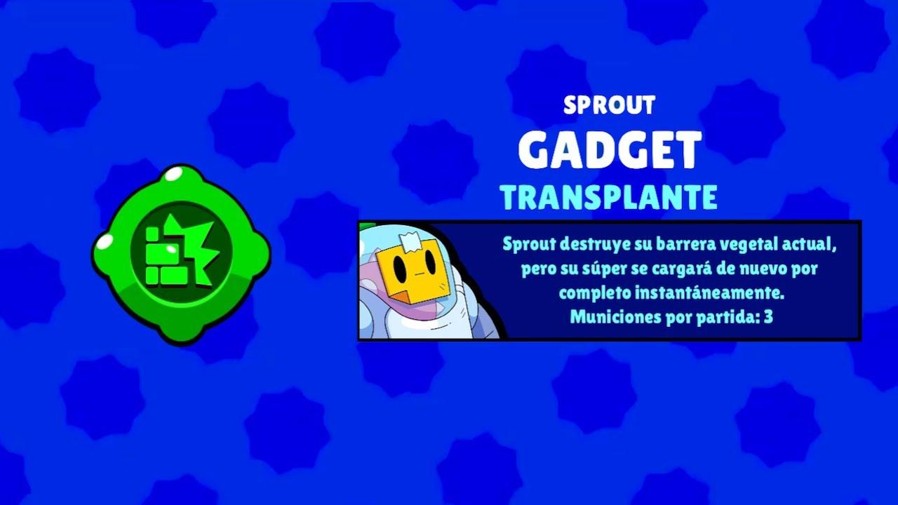 brawl stars sprout gadget transplante