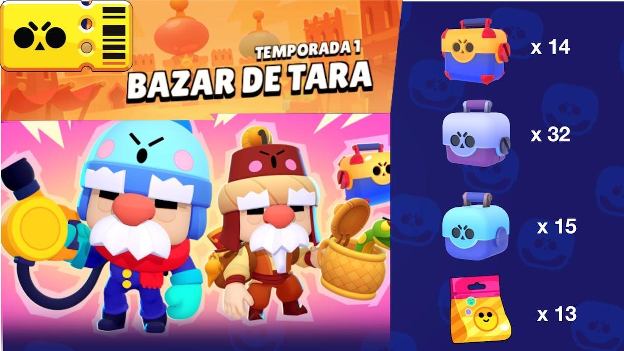 brawl stars temporada 1 bazar de tara