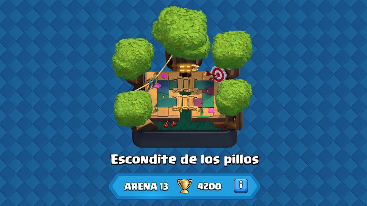 clash royale arena 13 escondite de los pillos