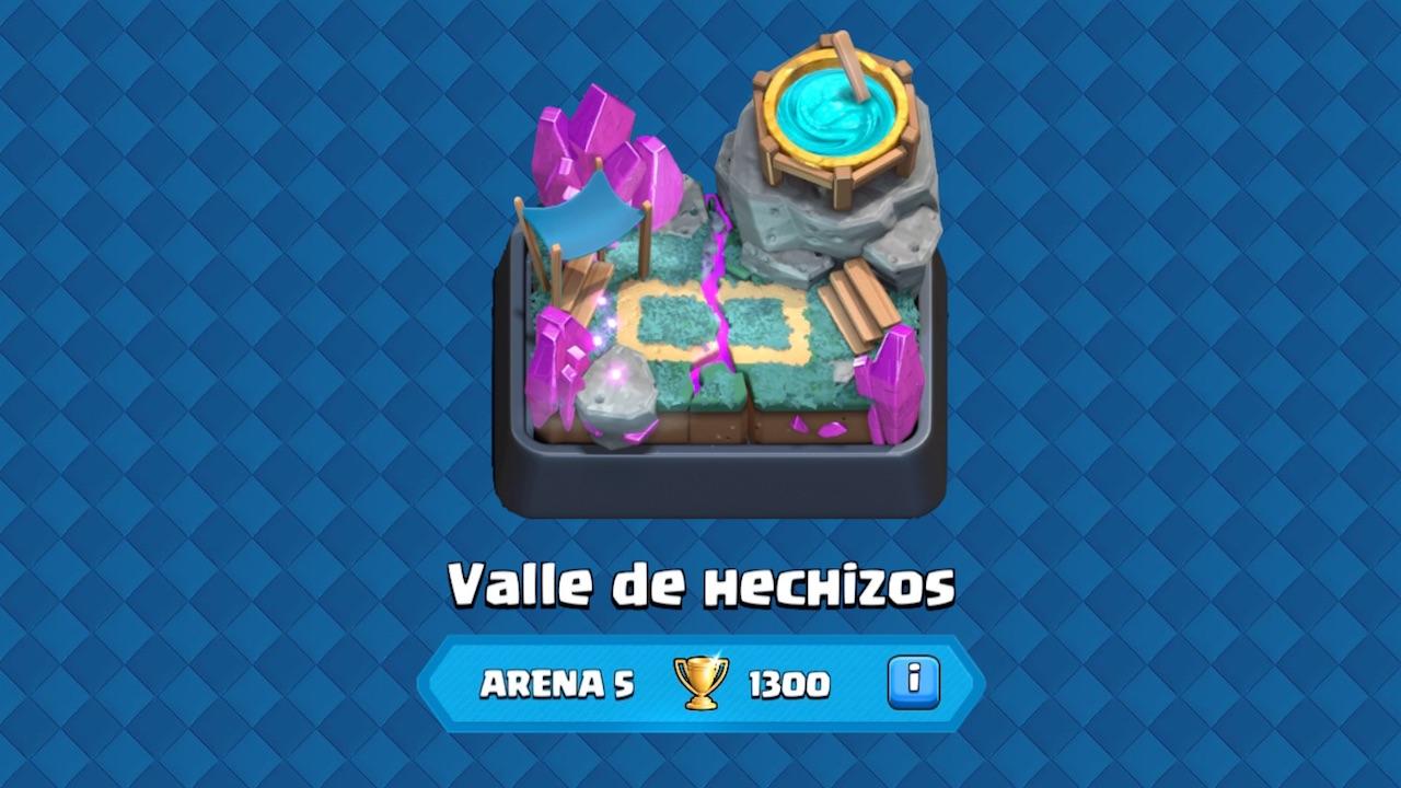 clash royale arena 5 valle de hechizos