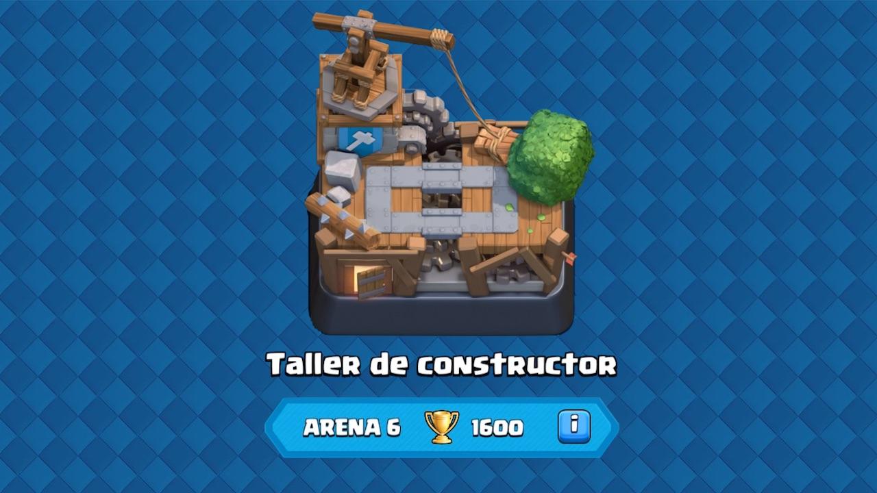 clash royale arena 6 taller del constructor