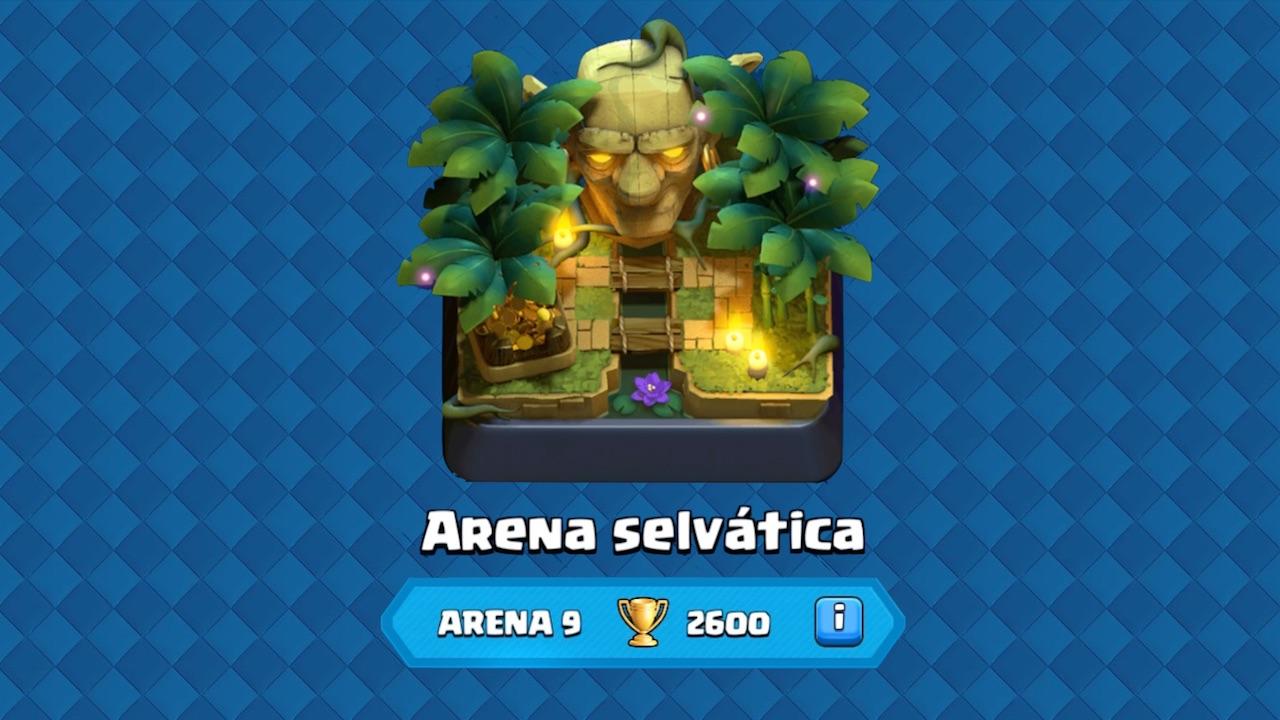 clash royale arena 9 arena selvatica