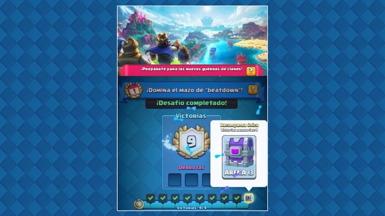 clash royale desafio especial beatdown