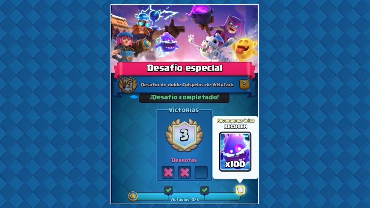 clash royale desafio especial doble chispitas de withzack