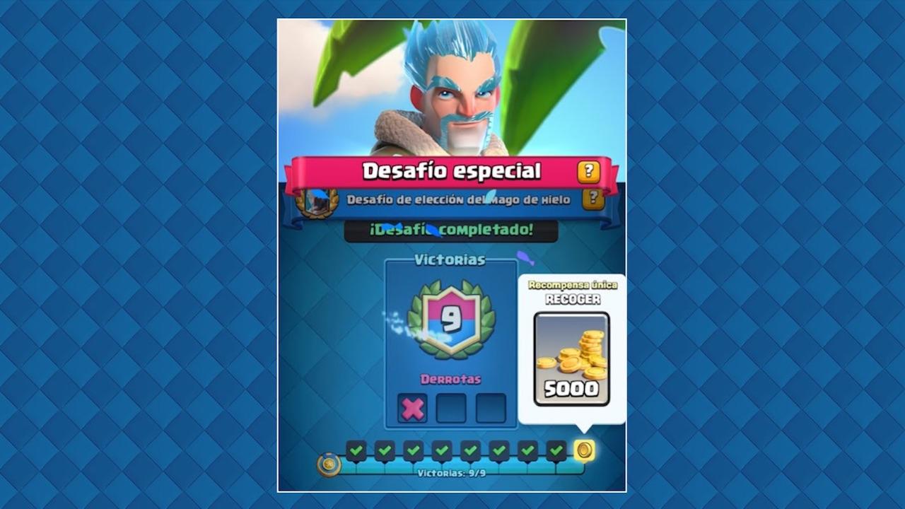 clash royale desafio especial eleccion del mago de hielo