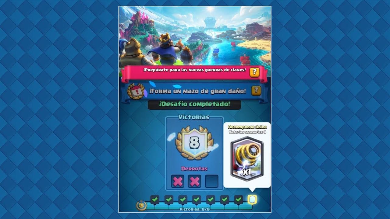 clash royale desafio especial forma un mazo de gran daño