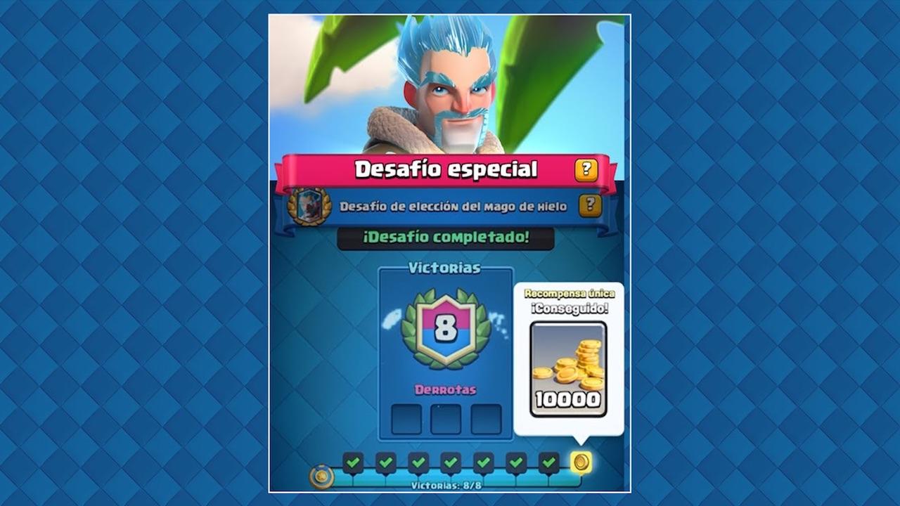 clash royale desafio especial mago de hielo
