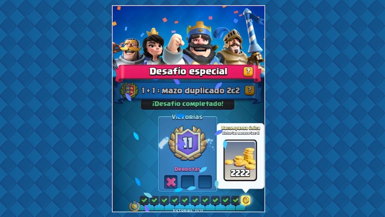 clash royale desafio especial mazo duplicado