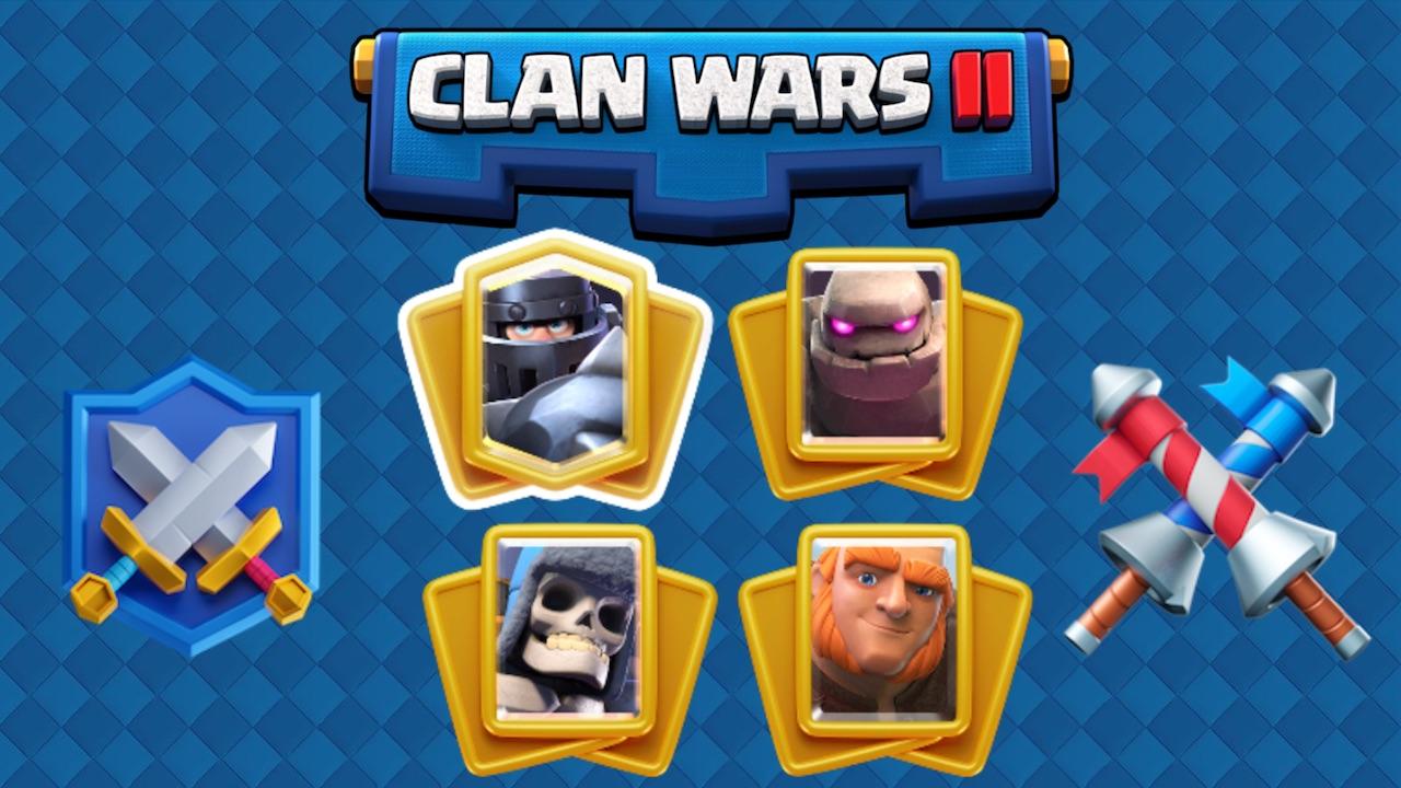 clash royale mazos para guerra de clanes 2