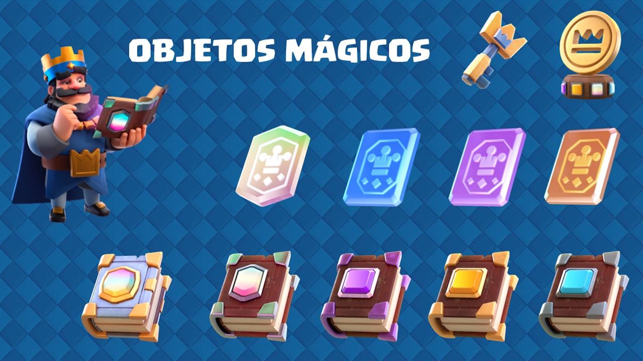 clash royale objetos magicos