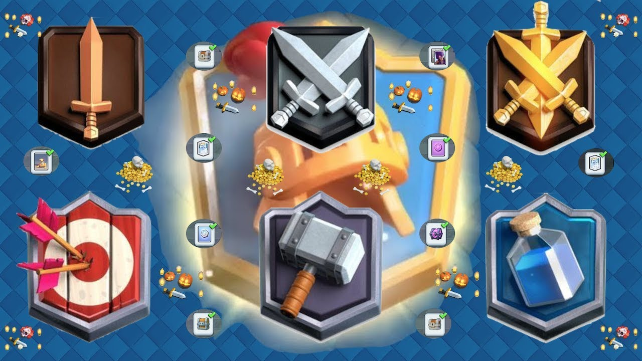 clash royale premios del trophy road