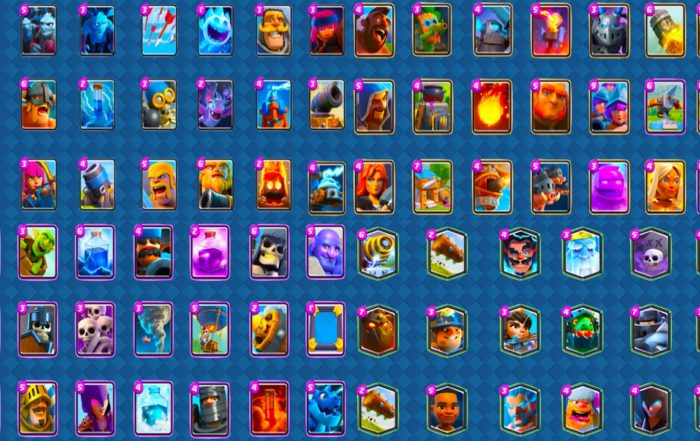 clash royale todas las cartas por categoria