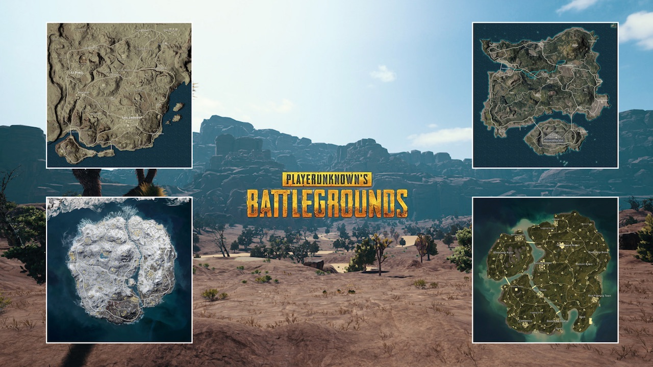 PUBG Mobile | Mapas del Player Unknown Battle Ground