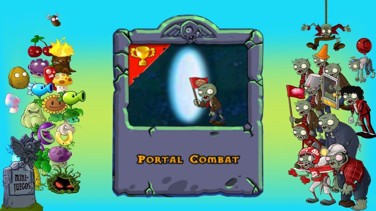pvz minijuego portal combat